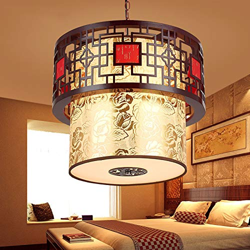 CLG-Fly Bar lamp, Chinese Style Lighting, Solid Wood Lantern, Corridor Staircase, Retro Hotel Restaurant, Bar Terrace,The Diameter of Plum Blossom is 28×30