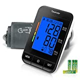 Blood Pressure Cuff Upper Arm, Tovendor Accurate Digital BP Monitor with Adjustable 8.7-16.5 inch Cuff for Home Use, Automatic Blood Pressure Machine with Pulse Rate, 2*90 Sets Memory, 4*AAA Batteries