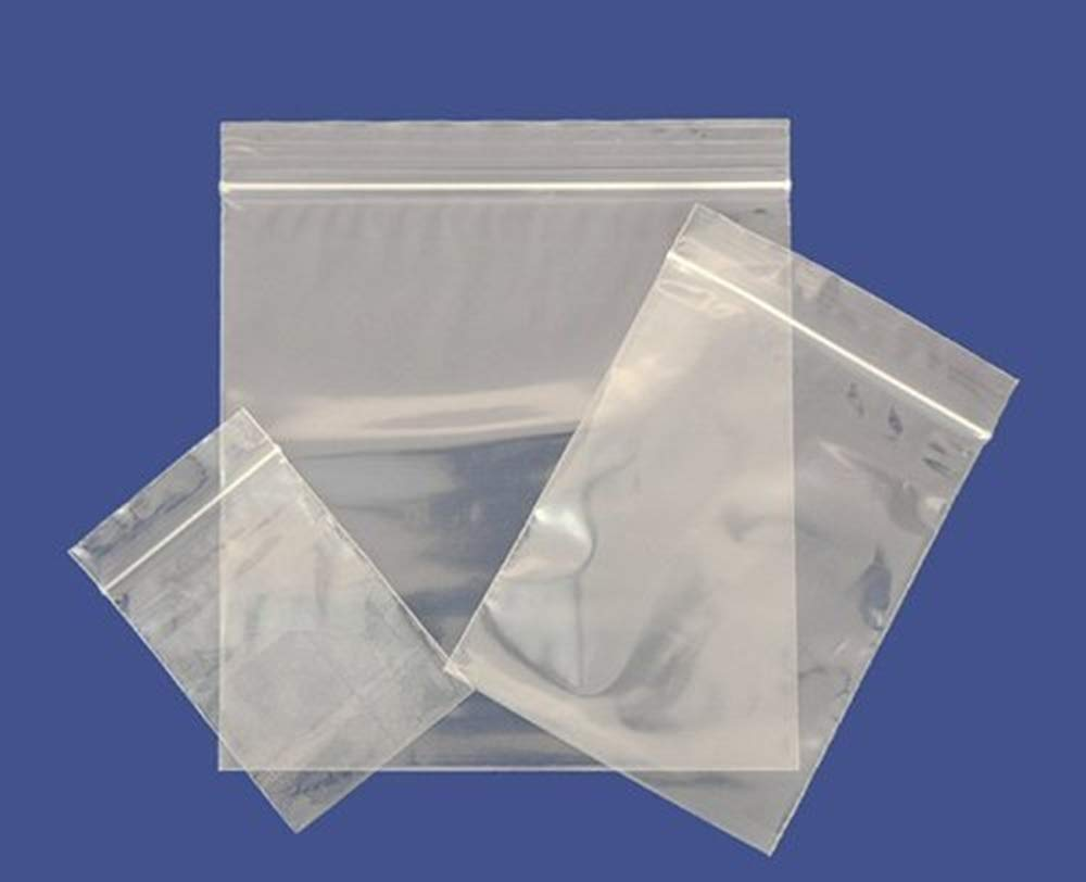PACK OF 100 CLEAR GRIP SEAL BAGS RESEALABLE STRONG PLASTIC HEAVY DUTY ALL SIZE