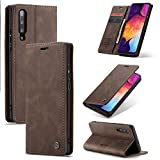 TXOZ Para Samsung A50 / A50s / A30S Luxus PU Cuero Cartera [Función de soporte trasero] Interchange Funda con [Ranuras para tarjetas] y [Notas] (Color : Coffee)
