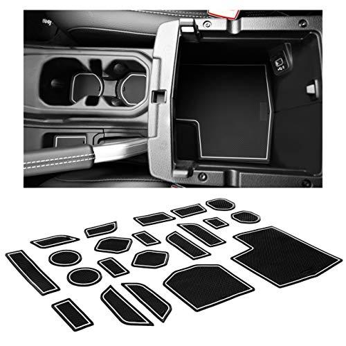 CupHolderHero fits Ford Fiesta Accessories 2011-2019 Premium Custom Interior Non-Slip Anti Dust Cup Holder Inserts Door Pocket Liners 21-pc Set Center Console Liner Mats Blue Trim