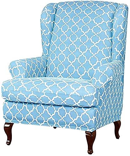 RTSFKFS 2 Teilig Ohrensessel Bezug Bunt, Sessel-Überwürfe Ohrensessel Schonbezüge Bezug Sesselhusse Elastisch Stretch Relaxsessel Mit Kissenbezug Sesselbezug (Color : I)
