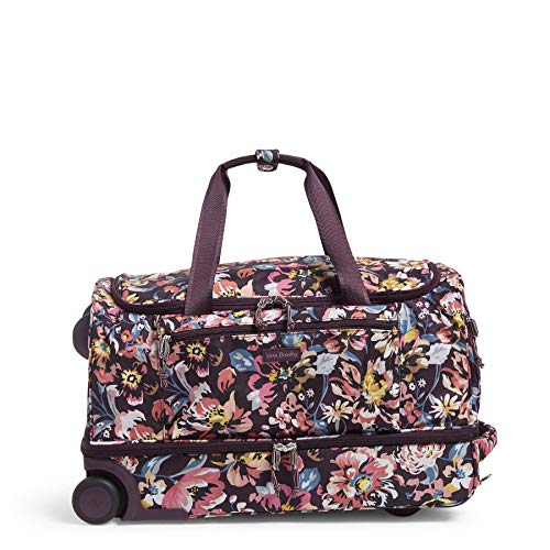 Vera Bradley Women's Duffle Luggage Lighten Up Foldable Duffel Rolling Suitcase, Indiana Blossoms, One Size