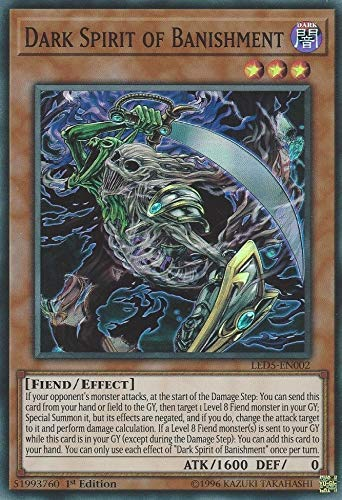 Yu-Gi-Oh! - Dark Spirit of Banishment - LED5-EN002 - Super Rare - 1st Edition - Legendary Duelists: Immortal Destiny