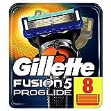 Gillette Fusion5 ProGlide 8 Lame di Ricambio per Rasoio per Rifinire le Aree Difficili, Dotato di Striscia Lubrificante Lubrastrip, Pacchetto Adatto per la Casella Postale