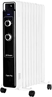 Orbegozo RJ 2000 – Radiador de aceite, 9 elementos, 2000 W, luz LED, termostato regulable, ruedas pivotantes