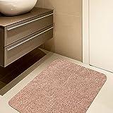 tifee Felpudo Lavable a máquina Antideslizante Felpudo para Interiores Felpudo Entrada Alfombrilla, marrón Claro, 40 * 60 cm