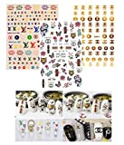 3D Luxury Designer 3 PACK COMBO DECALS Nail Stickers - Fancy Popular Stylish Manicure Decals - Colorful