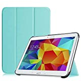 FINTIE SlimShell Funda para Samsung Galaxy Tab 4 10.1' - Súper Delgada y Ligera Carcasa con Función de Soporte y Auto-Reposo/Activación para Modelo SM-T530/T535, Azul