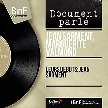 Leurs débuts: Jean Sarment (Mono Version)