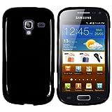 mumbi Hülle kompatibel mit Samsung Galaxy Ace 2 Handy Case Handyhülle, schwarz
