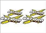 SKI-DOO Team 3DX / YELLOW / 4 PACK Vinyl Vehicle Snowmobile Winter Graphics...