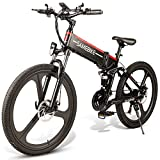 Roeam Bicicletas eléctricas,Bicicleta eléctrica montaña, Bicicleta eléctrica Plegable de 26 Pulgadas, Bicicleta eléctrica asistida, Bicicleta eléctrica, llanta combinada, Motor 48V 350W