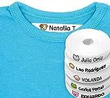 100 Etiquetas Personalizadas para ropa con Icono en Color a seleccionar. Tela Blanca. (Animales)