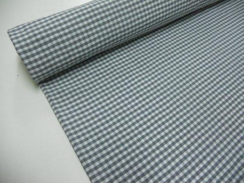 Confección Saymi Metraje 2,45 MTS Tejido Vichy, Cuadro pequeño 5x5 mm. Color Gris, con Ancho 2,80 MTS.