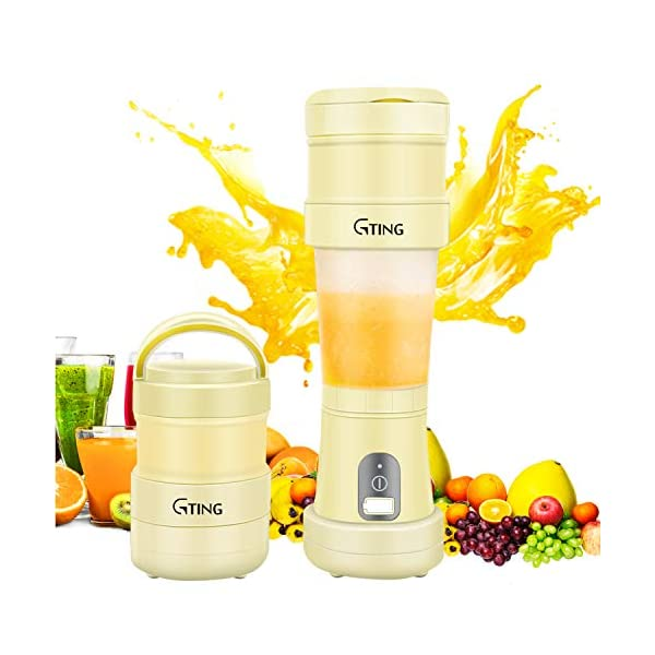 Portable Blender, G-TING Collapsible Personal Smoothies Blender Cordless, Single...