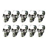 ZAK168 Paquete de 10 cuentas de calavera de esqueleto para hacer joyas, colgante de paracaídas para collares, pulseras, paraguas, linternas, pulseras (10 unidades)