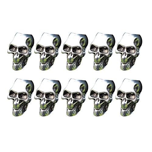 ZAK168 10 unidades de cuentas de esqueleto para hacer joyas, collares y pulseras, cuerda de paraguas, linterna, pulsera, accesorios, As Picture Show, 10 piezas