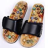 Chanclas para hombre Masajeador de pies con acupresión Piedra de jade Zapatillas de masaje con acupuntura Zapatos Sandalias de reflexología, Zapatos de masaje, para el cuidado de los pies Zapatillas