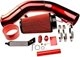 6.0 Cold Air Intake Kit for Ford F250 F350 F450 2003 2004 2005 2006 2007 Excursion 6.0L Powerstroke Diesel Red