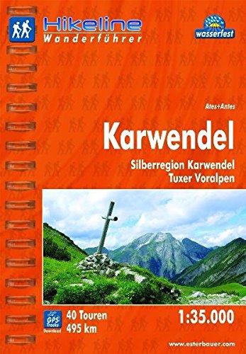 Hikeline Wanderführer Karwendel 1 : 35 000. Silberregion Karwendel, Tuxer Voralpen, wasserfest/reißfest, GPS Track zum Download