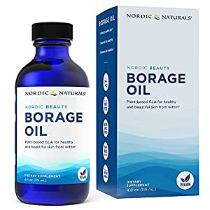 Nordic Naturals Nordic Beauty Borage Oil, Unflavored - 4 oz - 480 mg GLA - Unique Omega-6 from Borage Seed Oil - Healthy Skin & Joints, Metabolism - Non-GMO, Vegan - 48 Servings
