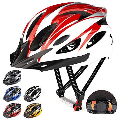 RaMokey Casco de bicicleta ligero, ajustable para bicicleta de montaña y carretera...