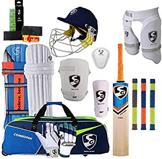 SG Best Sports 100% Original Brand Cricket Complete Set with Accessories in Full Size (Ideal for Senior Players) Cricket F...