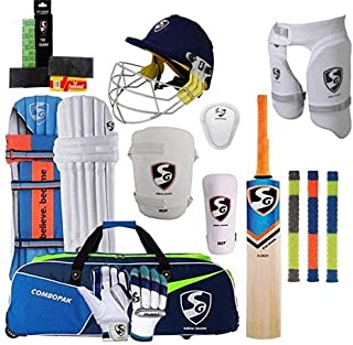 SG Best Sports 100% Original Brand Cricket Complete Set with Accessories in Full Size (Ideal for Senior Players) Cricket Full Kit