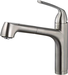 Houzer CALPO-561-BN Calia Pull Out Kitchen Faucet, Brushed Nickel