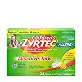 Children's Zyrtec 24 HR Dissolving Allergy Tablets, Cetirizine, Citrus Flavor, 24 ct