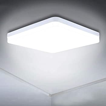 Led Ceiling Lamp 36w Daylight White Ceiling Light 6500k 3240lm Bright Flush Ceiling Lights For Bedroom Kitchen Hallway Outside Porch And More Energy Class A Amazon Co Uk Lighting