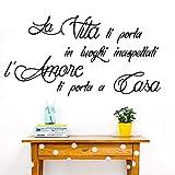 La vida italiana te trae una pared inesperada dormitorio pared italiana pared de vinilo sala de estar