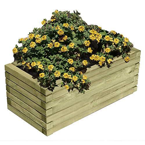 Gartenpirat Pflanzkasten rechteckig 60x40x33,5 cm Pflanzkübel aus Holz außen