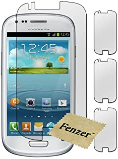 3 Pack Fenzer Clear Screen Protector for Samsung Galaxy S4 4 Mini Cell Phone Transparent LCD Touch Screen Guard Cover Shield w/ Cloth