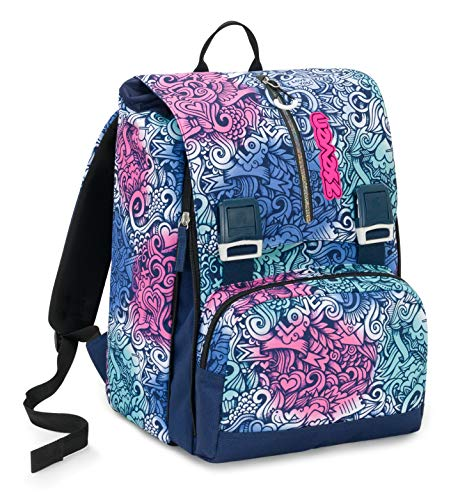 Big Seven Pinkshade rugzak, 28 l, blauw, dubbelwandig, school & tijd Libero