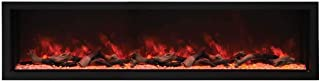 Amantii Indoor/Outdoor Built-in Electric Fireplace (BI-88-DEEP-XT), Extra Tall, 88-Inch