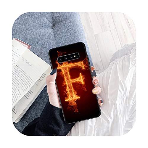 Cubierta de lujo de la caja del teléfono de la manera para Samsung S6 S7 Edge S8 S9 S10 Plus S10E S10 Lite Flame Fire-B2-para Samsung S9