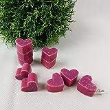 Seifenherzen 10 Stück mini - ORCHIDEE - Florex Schafmilchseife Herz Seife Gastgeschenk
