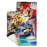 Super Mario Racing - Juego de alfombrillas para siesta para bebé (incluye almohada y manta de forro polar (43 x 21 pulgadas), ideal para dormir la siesta y los niños pequeños