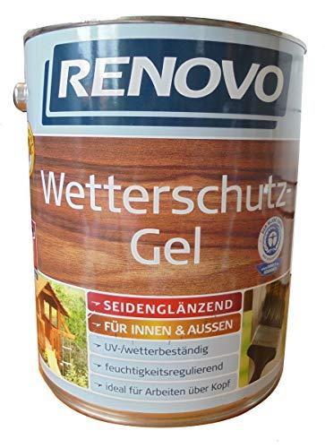 Renovo 5Ltr, Wetterschutz-Gel 0100 Farblos, wasserbasiert, für außen und innen