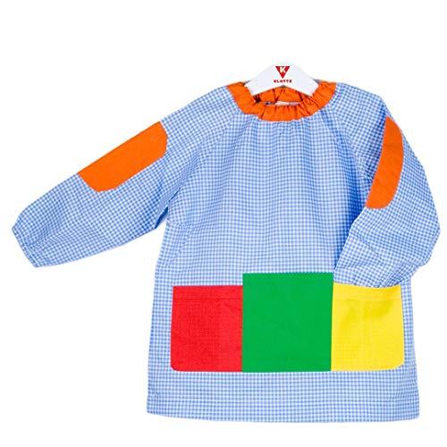 KLOTTZ - BABI GUARDERIA SIN BOTONES BOLSILLOS bebé-niños color: AZUL talla: 2