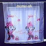 New Kids- Cortina con diseño deMinnie Mouse (75 x 150 cm), color rosa