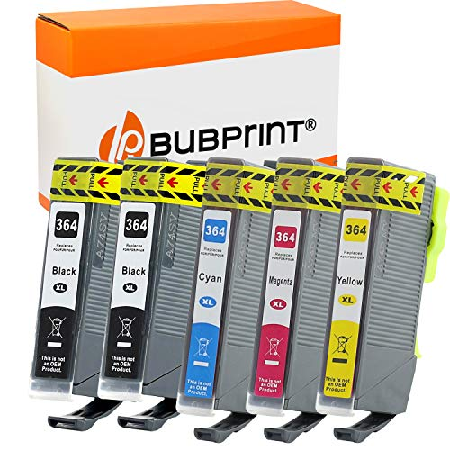 Bubprint 5 cartuchos de tinta compatibles con HP 364XL 364 XL para Deskjet 3520 Officejet 4620 7515 Photosmart 5510 6510 6520 7510 B109a B210a C309g C310a
