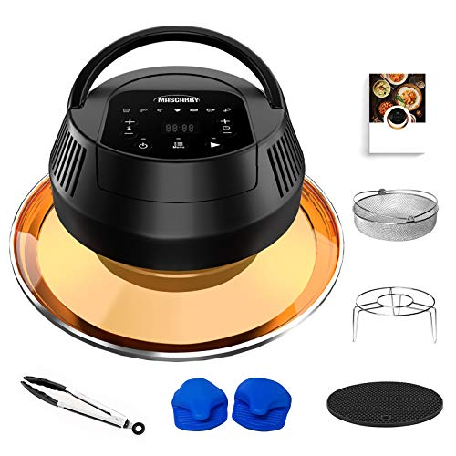 Air Fryer Lid for Instant Pot, 8 in 1 Instant Pot Air Fryer for 6/ 8 Qt Pressure Cooker, Turn Your Pressure Cooker into Air Fryer in Seconds with Led Touchscreen, Air Fryer Accessories and Safety Protection