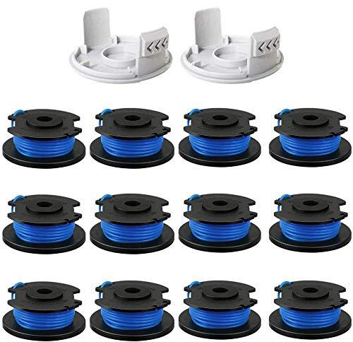 CDIYTOOL AC14RL3A Ersatzfaden für Rasentrimmer 0,065 Zoll für Ryobi One+ 18 V, 24 V und 40 V 3,3 m 0,065 Zoll Auto Feed Cordless Trimmer Unkrautfresser Spulen (14pack)