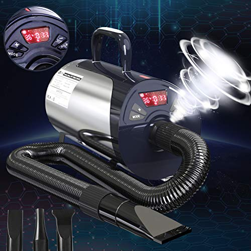 Newest Dog Dryer Professional Grooming Dog Hair Dryers For Dogs With Led Screen High Velocity Dog...