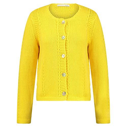 Oui Strickjacke mit Knopfleiste gelb (2282 Vibrant Yellow) 40