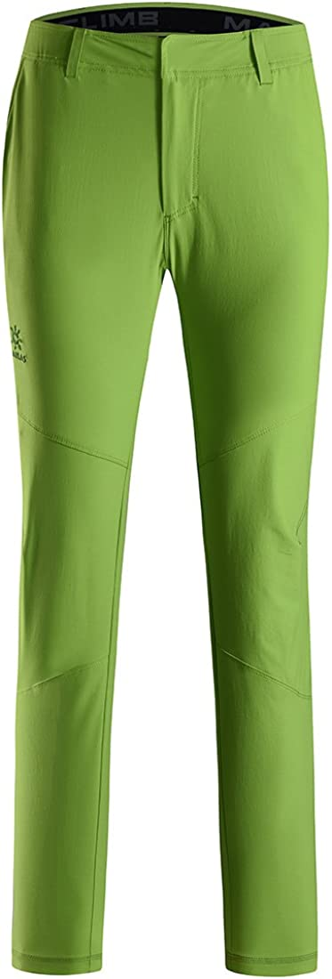 KAILAS Men's Hiking Climbing Pants Quick Dry Multi-Functional Ultralight Casual Cargo Trousers Apple Green M