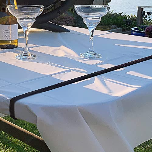 ECOHomes Tablecloth Strap Band   Table Bungees to Hold Down Table Cloth (2 Piece Pack) - for Picnic, Camping, Outdoor Tables, Parties, Weddings etc - Tablecloth Straps Clips Bungee Cord Clamps